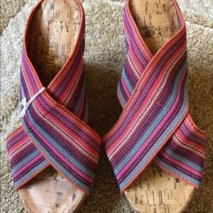 NWT Montego Bay Club Wedges Sandals Slip-On Size 6